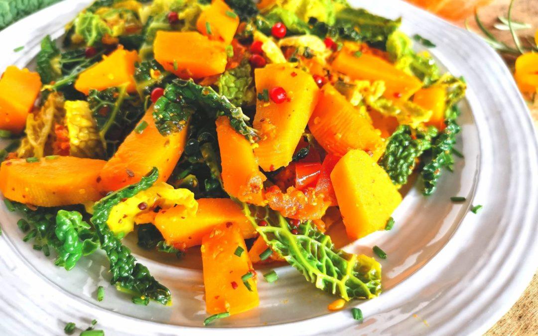 Kürbis Wirsing Gemüse
